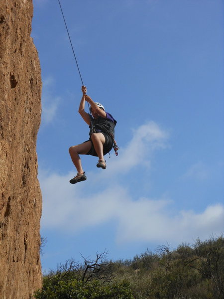 Rock Climbing Photo: The steep lower off on the south face of the Templ...
