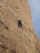 Rock Climbing Photo: Mining choss on the west face of the Temple of Ish...