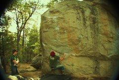 Rock Climbing Photo: Great V4 in Prescott Arizona.