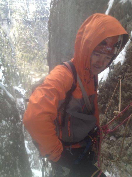 Rock Climbing Photo: Pin belay fourth pitch.