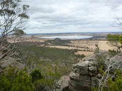Rock Climbing Photo: Looking down across the Wimmera planes, Mt Arapile...