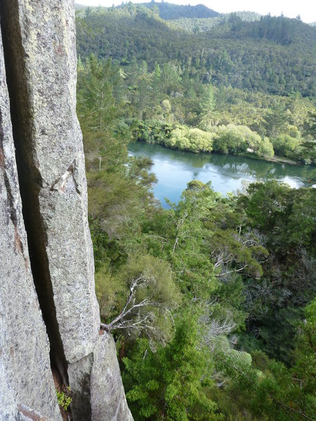 Waikato River from the Waipapa Cliffs, Waikato NZ.