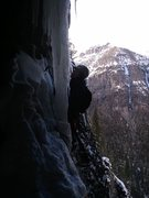 Rock Climbing Photo: Exiting ice cave.