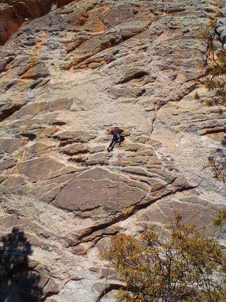 Rock Climbing Photo: Todd Wolfe (13 years old) leading lights out at 10...