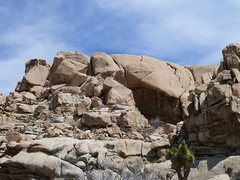 Rock Climbing Photo: Snickers (West Face), Joshua Tree NP