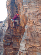 Rock Climbing Photo: Just through the most difficult move on Bosch it.