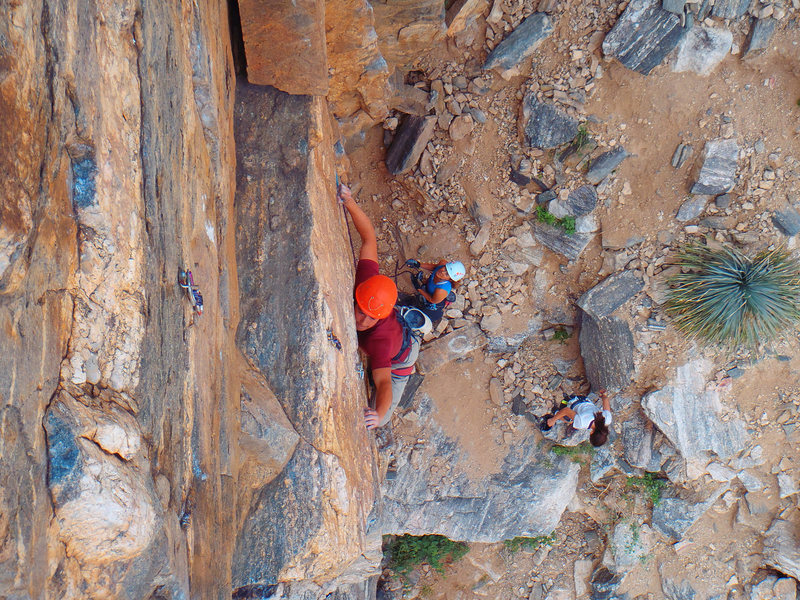 Rock Climbing Photo: Cruxy move