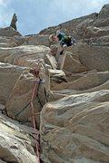 Rock Climbing Photo: Jonathan leads up Walk The Plank on a beautiful da...