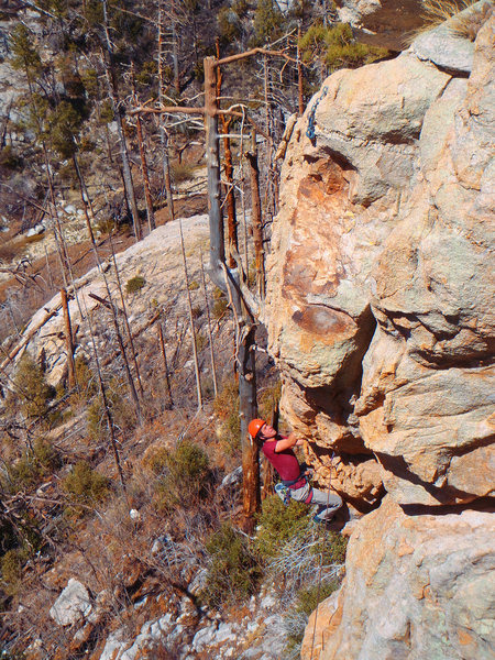 Rock Climbing Photo: Moving into the final exit sequence