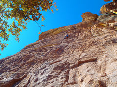 Rock Climbing Photo: The slabby more technical half of Nang