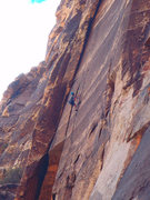 Rock Climbing Photo: Sweet lieback at the top