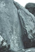 Rock Climbing Photo: The entire route is in the photo; climber at the b...