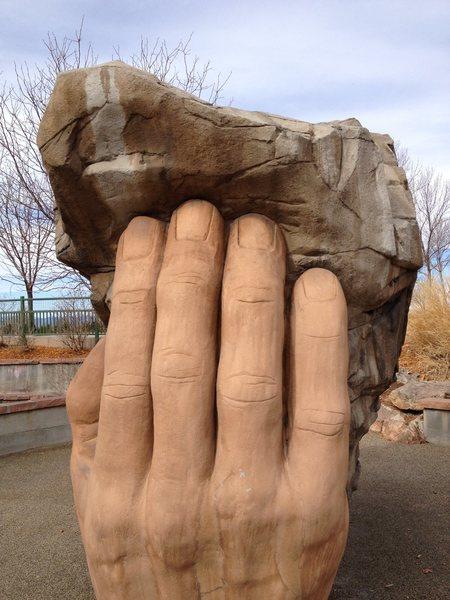 Rock Climbing Photo: God's right hand.