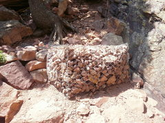 Rock Climbing Photo: The first of many Gabions used to stabilize the bo...
