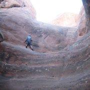 Rock Climbing Photo: Free Solo stupidity.  Arches National Park, UT.