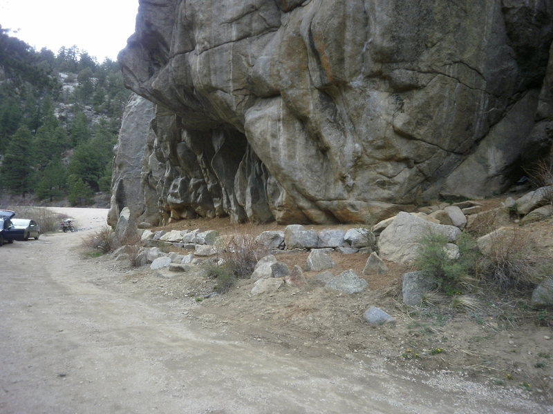 Rock Climbing Photo: Phase 1 of the Castle Rock improvements...