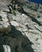 "Rock Climbing Photo: Low on Stettner's Ledges; ""Big Bob"" lead..."