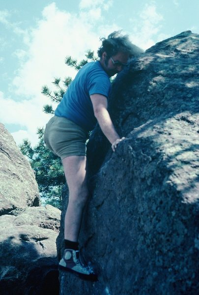 Rock Climbing Photo: Rodger, finishing the [finishing the normal easy w...