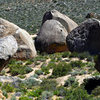 Some heavy-hitter boulders in the Buttermilks<br>