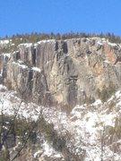 Rock Climbing Photo: Upper Washbowl, winter 2013