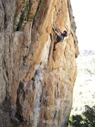 Rock Climbing Photo: Clay Mansfield on the redpoint.