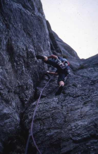 During the first ascent of Sort/hvitt