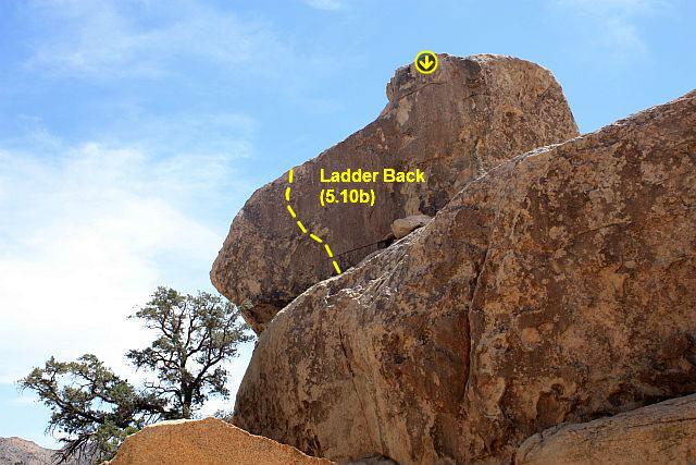 Ladder Back (5.10b), Joshua Tree NP