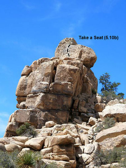 Rock Climbing Photo: Take a Seat (5.10b), Joshua Tree NP