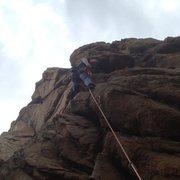 Rock Climbing Photo: climbing at keller peak.