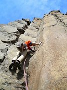 Rock Climbing Photo: Starting up the nice Welcome To Vantage line.