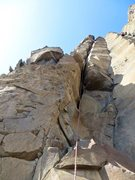 Rock Climbing Photo: Shirley wishing for one more OW cam near the top o...