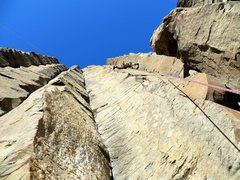 Rock Climbing Photo: Leading the pretty nice Mr. Clean route.