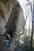 Rock Climbing Photo: Preparing to rap down. 3/22/2013