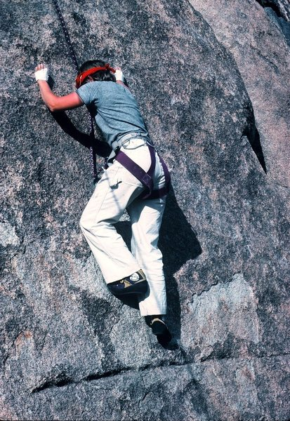 Rock Climbing Photo: Anne Carrier on Tight Shoes (1985), and making it ...