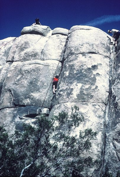 Rock Climbing Photo: Ten year old Emil, on Toe Jam Express.