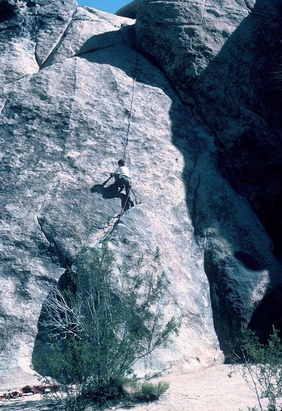 "Rock Climbing Photo: Ten year old Emil, following ""Tulip,"" (5..."