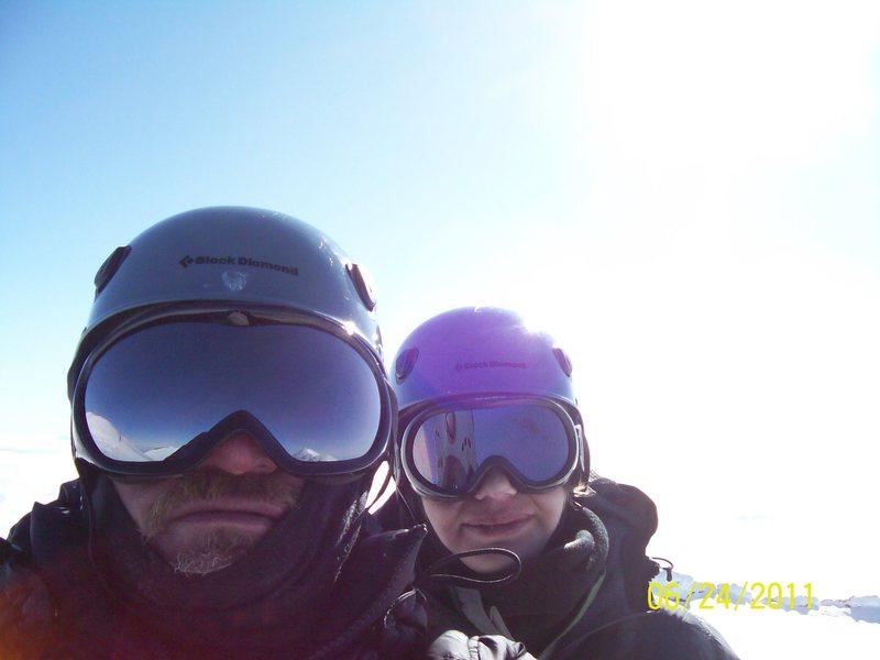 Son (13 y/o)and I top of Rainier
