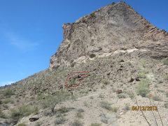 Rock Climbing Photo: Here is the cluster where this boulder lies...phot...