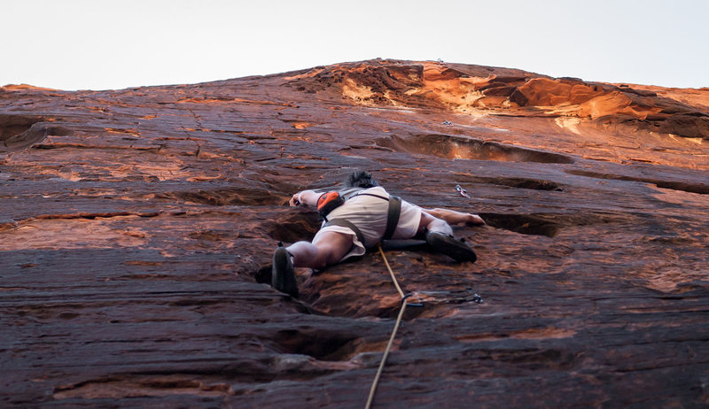 Rock Climbing Photo: Bob on Fools Gold