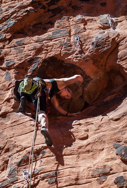 Rock Climbing Photo: Jenny in the big dish