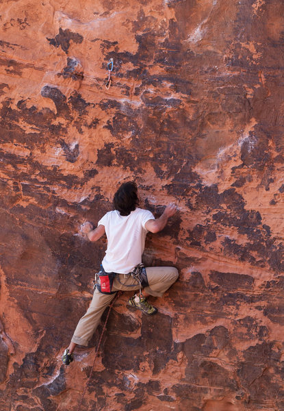 Rock Climbing Photo: Ethan leading Roto Hammer