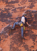 Rock Climbing Photo: Laura leading Haunted Hooks