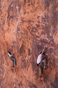 Rock Climbing Photo: Haunted Hooks on left and Roto Hammer on right