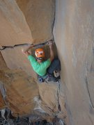 Rock Climbing Photo: the horizontal above the roof.  fantastic!