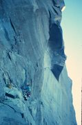 Rock Climbing Photo: Me leading the pitch before the Great Roof - in th...