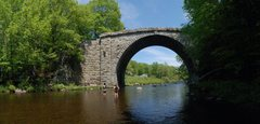 Rock Climbing Photo: Stone Arch Bridge Keene, NH.  This thing was built...