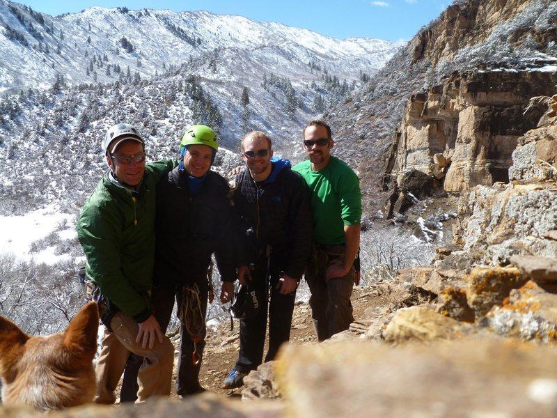 A winter day out with da boyz at Main Elk Crag.