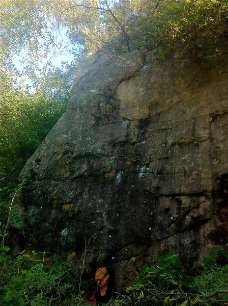 Rock Climbing Photo: Trailside problem.