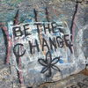 Graffitti at Rock Rimmon. Hey, at least it's got a positive message...