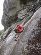 Rock Climbing Photo: FA of one of those routes under the roof